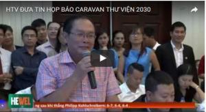 HTV ĐƯA TIN HỌP BÁO CARAVAN THƯ VIỆN 2030