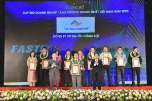 Thắng Lợi Group được vinh danh Doanh nghiệp tăng trưởng nhanh nhất Việt Nam
